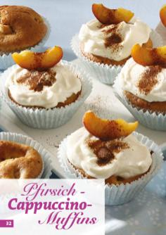 Rezept - Pfirsich-Cappuccino-Muffins - Simply Backen mit dem Thermomix® 04/2018