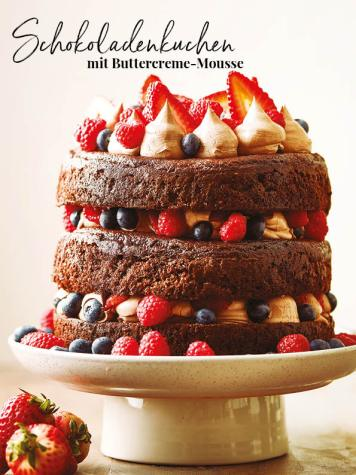Rezept - Schokoladenkuchen mit Buttercreme-Mousse - Simply Kreativ - Neue Rezepte für den Thermomix® - 04/2018