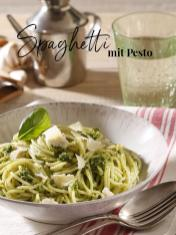 Rezept - Spaghetti mit Pesto - Simply Kreativ - Neue Rezepte für den Thermomix® - 04/2018