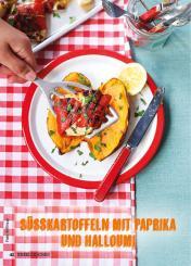 Rezept - Süßkartoffeln mit Paprika und Halloumi - Weekly Kochen Extra - 01/2018