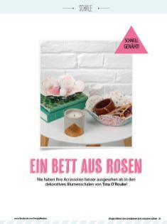 Nähanleitung - Ein Bett aus Rosen - Simply Kreativ Geschenkideen + Accessoires Näh-Sonderheft 01/2018