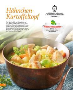 Rezept - Hähnchen-Kartoffeltopf - Simply Kochen mini – Rezepte für den Thermomix® 05/18