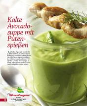 Rezept - Kalte Avocadosuppe mit Putenspießen - Simply Kochen mini – Rezepte für den Thermomix® 05/18