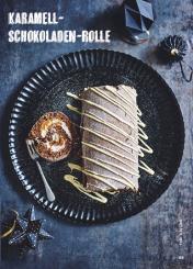 Rezept - Karamell-Schokoladen-Rolle - Simply Kochen Special Weichnachtsgebäck - 01/2018