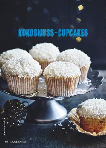 Rezept - Kokosnuss-Cupcakes - Simply Kochen Special Weichnachtsgebäck - 01/2018