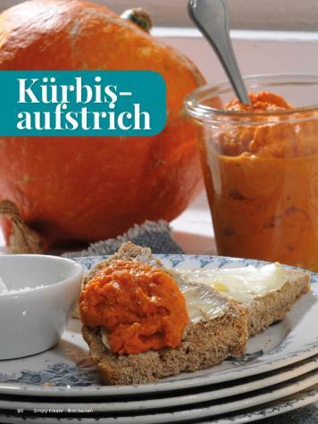 Rezept - Kürbis-aufstrich - Simply Kreativ - Brot backen - Sonderheft - 01/2019