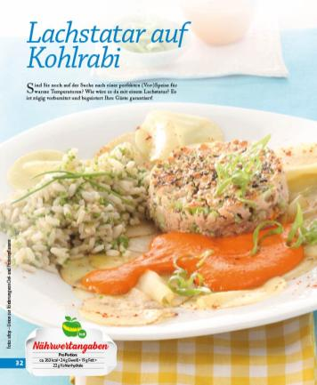 Rezept - Lachstatar auf Kohlrabi - Simply Kochen mini – Rezepte für den Thermomix® 05/18