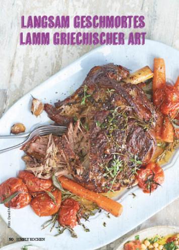 Rezept - Langsam geschmortes Lamm grechischer Art - Simply Kochen Mediterran 05/2018