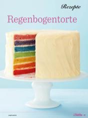 Rezept - Regenbogentorte - Das große Backen - 09/2018