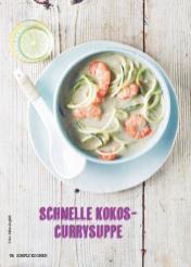 Rezept - Schnelle Kokos-Currysuppe - Simply Kochen Suppen & Eintöpfe 01/2018
