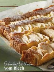 Rezept - Schneller Apfelkuchen vom Blech - Simply Kreativ Äpfel-und Pflaumen-Rezepte für den Thermomix® 05/2018
