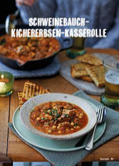 Rezept - Schweinebauch-Kichererbsen-Kasserolle - Simply Kochen Suppen & Eintöpfe 01/2018