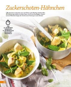 Rezept - Zuckerschoten-Hähnchen - Simply Kochen mini – Rezepte für den Thermomix® 05/18