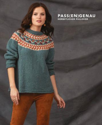 Strickanleitung - Pass(en)genau - Herbstlicher Pullover - Designer Knitting - 06/2018