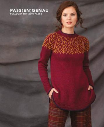 Strickanleitung - Pass(en)genau - Pullover mit Zopfpasse - Designer Knitting - 06/2018