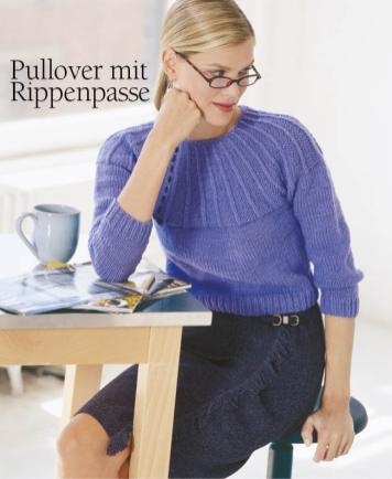 Strickanleitung - Pullover mit Rippenpasse - Designer Knitting 05/2018