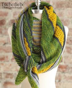 Strickanleitung - Tücherliebe - Offset-Dreieckstuch - Designer Knitting - 06/2018