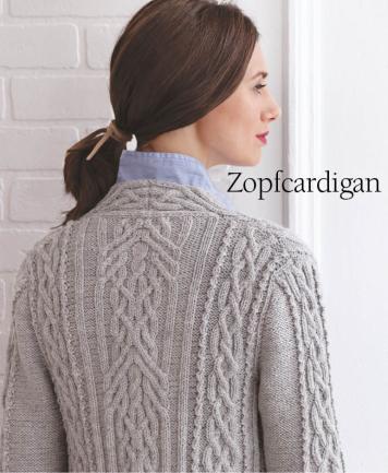 Strickanleitung - Zopfcardigan - Designer Knitting 05/2018