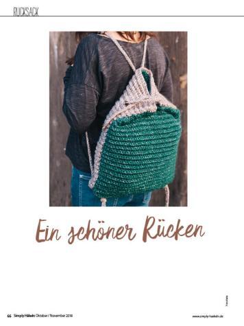 Häkelanleitung - Ein schöner Rücken - Simply Häkeln - 06/2018