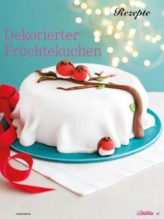 Rezept - Dekorierter Früchtekuchen - Das große Backen - 10/2018