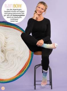 Strickanleitung - Rainbow - Simply kreativ - Stricken mit Farbverlaufsbobbeln - 02/2018