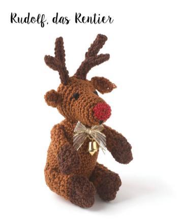 Häkelanleitung - Rudolf, das Rentier - Mini Weihnachts-Deko Häkeln Vol. 5