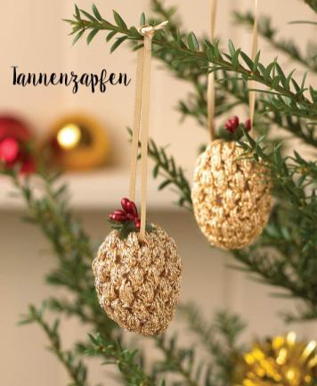 Häkelanleitung - Tannenzapfen - Mini Weihnachts-Deko Häkeln Vol. 5