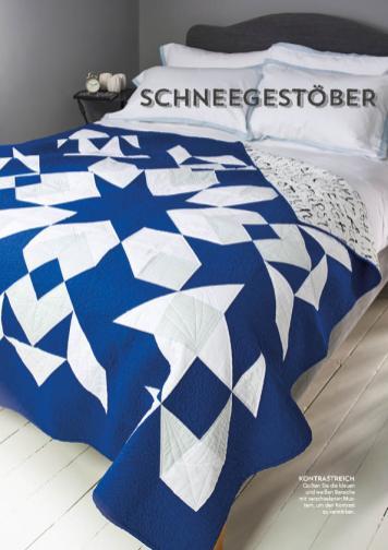 Nähanleitung - Schneegestöber - Simply Kreativ Patchwork + Quilting - 01/2019