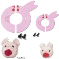 Prym Pompom-Schablonen – Schweinchen