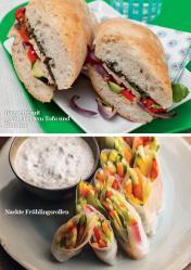 Rezept - Baguette mit geräuchertem Tofu und Gemüse / Nackte Frühlingsrollen - Simply Kreativ - Vegan-Guide 01/2019