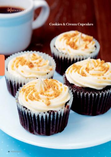 Rezept - Cookies & Cream Cupcakes - Simply Kreativ - Vegan-Guide 01/2019