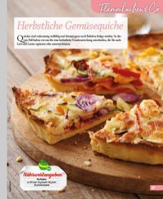 Rezept - Herbstliche Gemüsequiche - Simply Kochen mini – Rezepte für den Thermomix® 06/2018