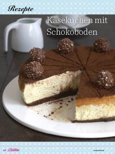 Rezept - Käsekuchen mit Schokoboden - Das grosse Backen - 11/2018