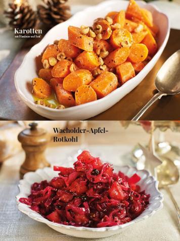 Rezept - Karotten mit Haselnuss und Senf / Wacholder-Apfel-Rotkohl - Simply Kreativ Sonderheft Weihnachtsrezepte 01/2019