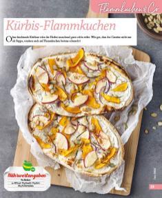 Rezept - Kürbis-Flammkuchen - Simply Kochen mini – Rezepte für den Thermomix® 06/2018