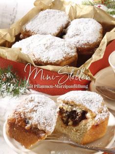 Rezept - Mini-Stollen mit Pflaumen-Marzipanfüllung - Simply Kreativ Sonderheft Weihnachtsrezepte 01/2019