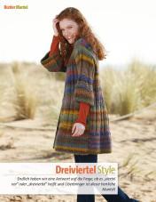 Strickanleitung - Dreiviertel-Style - Fantastische Winter Strickideen - 05/2018