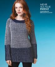 Strickanleitung - Mehr Als nur Patent - Zweifarbiger Brioche-Pullover - Designer Knitting 01/2019