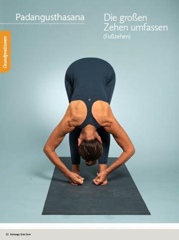 Yoga Anleitung - Padangusthasana - Sportplaner - Yoga Guide 01/2019