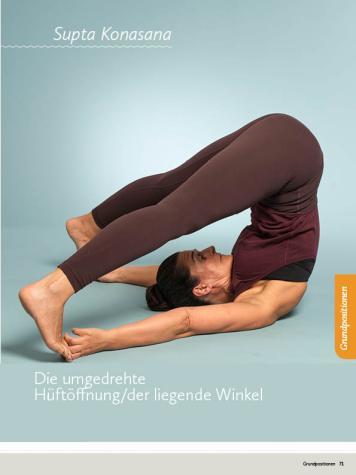 Yoga Anleitung - Supta Konasana - Sportplaner - Yoga Guide 01/2019