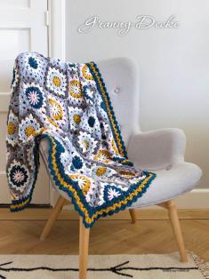 Häkelanleitung - Granny-Decke - Simply Kreativ - Nordisch Häkeln - 01/2019