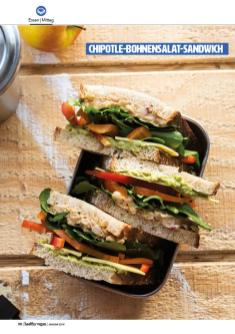 Rezept - Chipotle-Bohnensalat-Sandwich - Healthy Vegan 01/2019