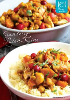 Rezept - Cranberry-Puten-Tajine - Simply Kreativ Superfood 01/2019