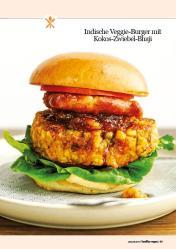 Rezept - Indische Veggie-Burger mit Kokos-Zwiebel-Bhaji - Healthy Vegan 01/2019