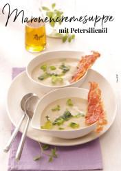 Rezept - Maronencremesuppe mit Petersilienöl - Simply Kreativ Extra – Leckere Ideen für den Thermomix® 01/19