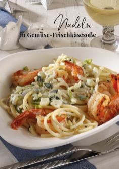 Rezept - Nudeln in Gemüse-Frischkäsesoße - Simply Kreativ Extra – Leckere Ideen für den Thermomix® 01/19