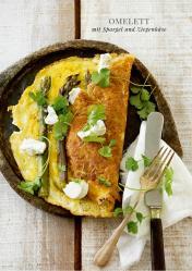 Rezept - Omelett mit Spargel und Ziegenkäse - Simply Kreativ healthy - Darm in Topform - 01/2019