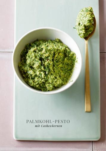 Rezept - Palmkohl-Pesto mit Cashewkernen - Simply Kreativ healthy - Darm in Topform - 01/2019