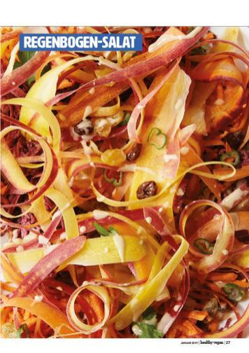 Rezept - Regenbogen-Salat - Healthy Vegan 01/2019