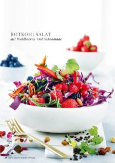 Rezept - Rotkohlsalat mit Waldbeeren und Schokolade - Simply Kreativ healthy - Darm in Topform - 01/2019